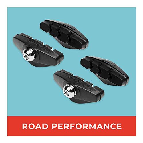 Rennrad Bremsbeläge 2 Paar 50mm ° Für Shimano, SRAM, Cane Creek, TRP UVM ° Hohe Bremsleistung ° Langlebige & Passgenaue Bremsklötze