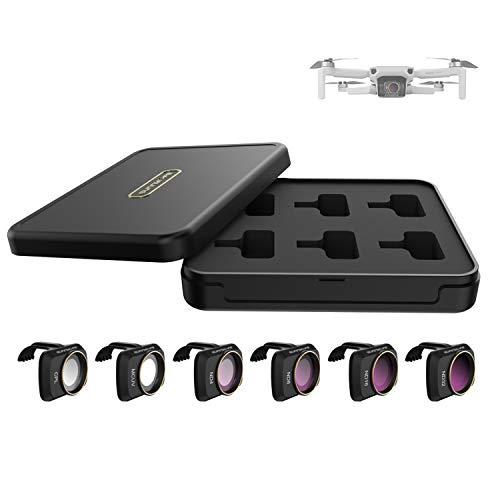 Lens Filter Set Compatible with DJI Mavic Mini 2 Mavic Mini Accessories 6pcs Filter Combo Multi Coated Filters Camera Lens (CPL MCUV ND4 ND8 ND16 ND32)