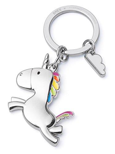 Unicornio del Vuelo del Llavero con el Arco Iris de la Nube, Llavero, Cuentos de Hadas, Final mágico, Brillante