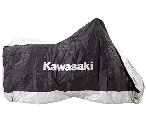 Kawasaki, telo di copertura per moto, per esterni-