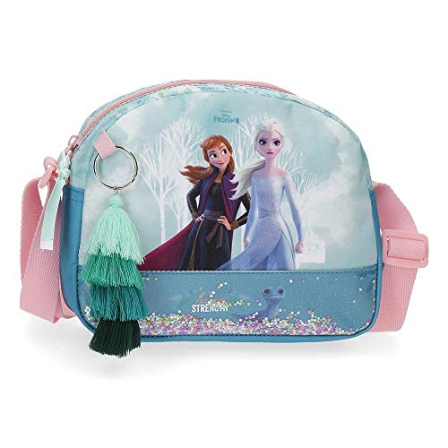 Disney Frozen Find Your Strenght Bandolera Azul 20,5x16,5x6 cms Poliéster