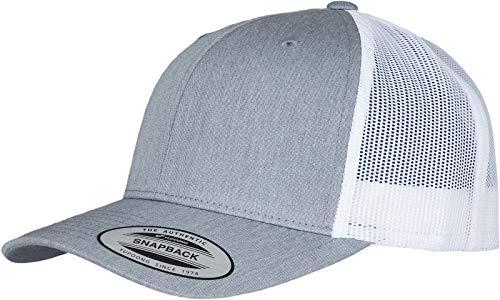 Flexfit Unisex Retro Trucker 2-Tone Kappe Baseball Cap, Heather/White, one Size