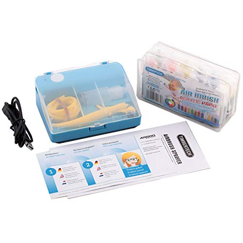Timbertech ST-10A airbrush marker sprayer airbrush magische stiften maker elektrische markering airbrush compressor set met 12 kleuren voor kinderen