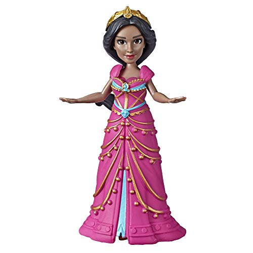 Disney Collectible Princess Jasmine Small Doll in Pink Dress Inspired by Disney's Aladdin Live-Action Movie, Toy for Kids Ages 3 & Up, 3.5'