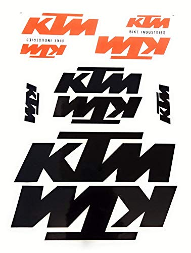 BISOMO Aufkleber Sticker von KTM in Orange/Schwarz 10 Sticker im Set