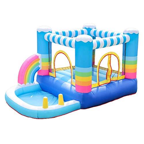 BSJZ Castillo Hinchable Inflable, Salto de casa de Rebote Inflable arcoíris con Piscina de Bolas para niños, Juguetes para Fiestas, Parques, centros de Juegos, Garan