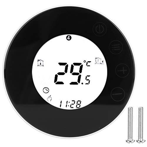 Termostato Inteligente para el hogar, termostato programable de 7 días, Calentamiento de Agua Redondo, termostato Digital táctil LED, aplicación, termostato de Control de Voz, Funciona con Alexa para