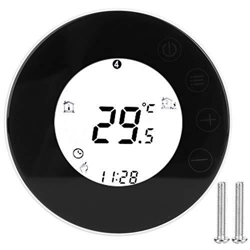 Termostato digital, redondo, calentamiento de agua, LED táctil, termostato inteligente, controlador de temperatura, aplicación, control de voz, 95-240 V