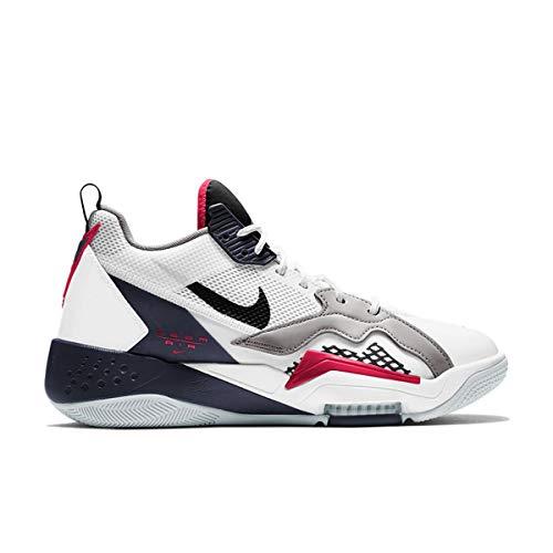 Nike Jordan Zoom '92, Zapatillas de Baloncesto. Hombre, White Obsidian True Red Metallic Silver, 46 EU