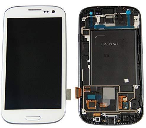 XiaoZhu Ersatzteile für Samsung Galaxy S3 / i9300 / i9305 LCD Display Touchscreen Bildschirm Digitizer Glas Komplett Rahmen Assembly Weiß
