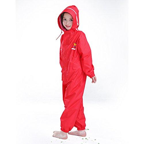 FSYY Regenkleding Children's Siamese regenjas Jongens en meisjes 2-12 jaar oud Regenjas regenbroek pak Poncho Baby Smaakloos Milieuvriendelijk Huidvriendelijk en zacht
