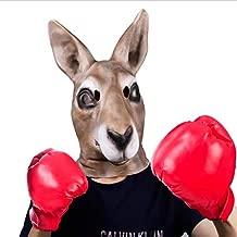 PKRISD Halloween Party Cosplay Animal Mask Latex Kangaroo Mask Boxing Race Ugly Rabbit Carnival Mask Disguises of Horse Face Head Mask