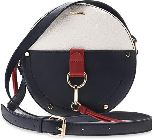 Monnari runde Damentasche Köfferchen Handtasche Markentasche Marine-Look