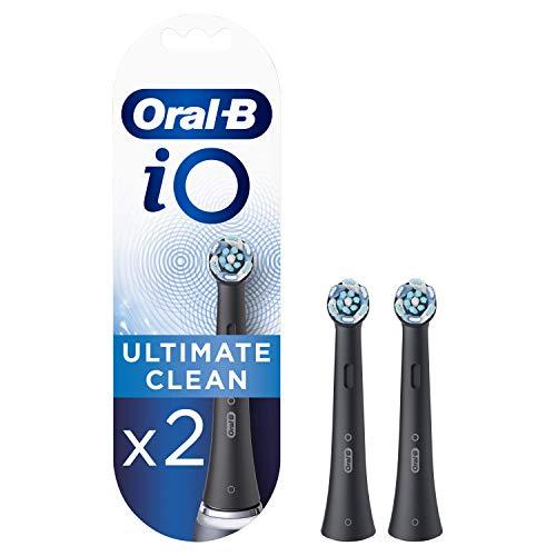 Oral-B iO Ultimate Clean Cabezales de Recambio, Pack de 2 Recambios Negros...