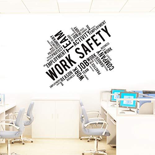 JWJQTLD Wandaufkleber,PVC-Umweltschutz Material Arbeiten Sicherheit Arbeitssicherheit Büro Dekoration Aufkleber, Wohnzimmer Schlafzimmer Tv Hintergrund Wand Und Anderen Glatten Wänden