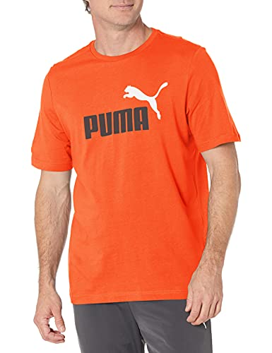 PUMA Herren Essentials+ Logo Tee T-Shirt, Tigerlily, X-Groß