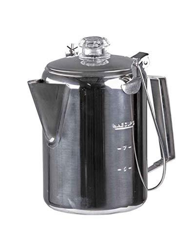 Mil-Tec Kaffeekanne S/Steel m.Percolator (9 Tassen)