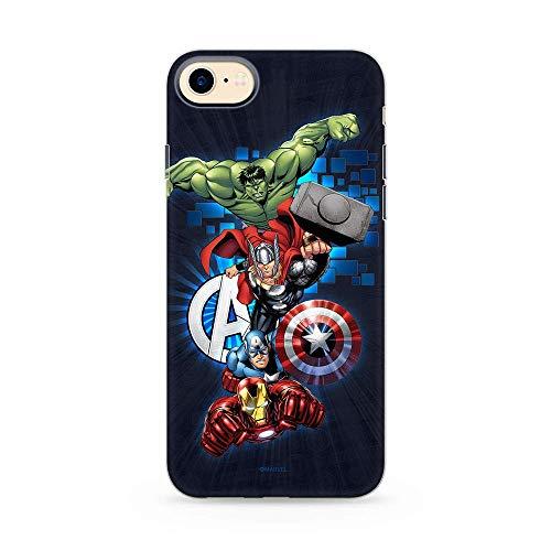 Estuche para iPhone 7/8/SE2 Marvel Avengers Original con Licencia Oficial, Carcasa, Funda, Estuche de Material sintético TPU-Silicona, Protege de Golpes y rayones