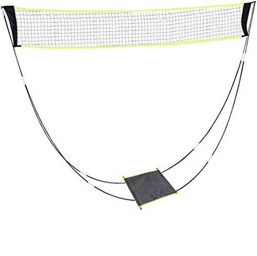 AMhuui Tragbare Badmintonnetz, Folding Movable Tennis Indoor- Und Outdoor Badminton Net-Rack Für Garten Easy Setup Für Frei- / Hallenplatz, Hinterhof, Ohne Werkzeug
