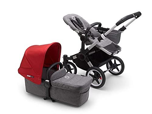 Bugaboo Donkey 3 Mono - Cochecito con capazo y silla convertible a carrito doble para que tus peques...