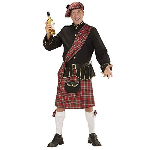 WIDMANN 59239  Disfraz de Escocia, chaqueta, falda, cinturn, cartera y sombrero, Escocia, carnaval, fiesta temtica.