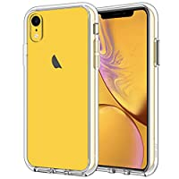 Designed for iPhone XR 6.1-inch Made with PC and TPU. Slim design. Ultra transparent and scratch-resistant back Raised bezels to offer protection for screen and camera. Unique shock-absorption design: 4 corners effectively absorb shocks Easy access t...