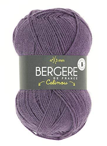 BERGÈRE DE FRANCE - CALINOU, Ovillo para tejer - 25% lana merino, suave, fina y ligera, ideal Baby...