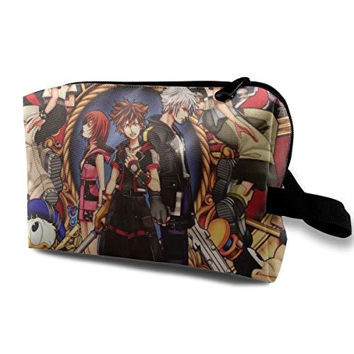Toiletry Travel Bag Cool Kingdom Hearts Makeup Bag for Women Girls
