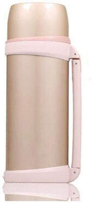 Bouteille d'eau, pot froid isolé en acier inoxydable Thermos, convenant aux hommes et aux femmes for les voyages à l'extérieur - ApprovisionneHommest multiCouleure (Couleur   Beige, Taille   1.5L)