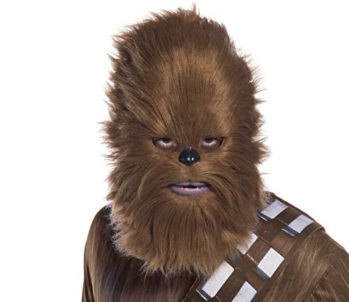 Rubie's Unisex-Adults Star Wars Classic Chewbacca Mask With Faux Fur, As Shown, OneSize