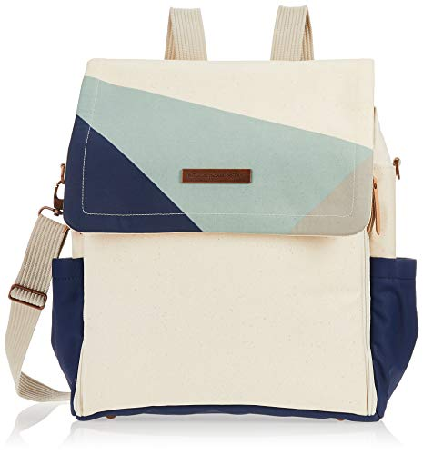 Petunia Pickle Bottom Boxy Backpack | Diaper Bag | Diaper Bag Backpack for Parents | Top-Selling Stylish Baby Bag | Sophisticated and Spacious Backpack for On The Go Moms | Original Birch/Fjord