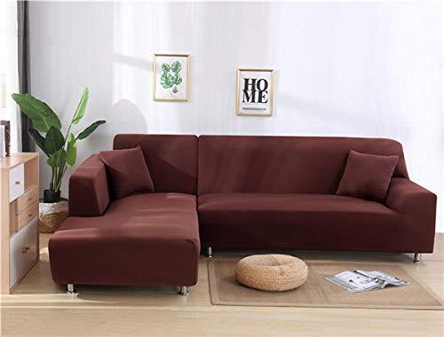 fundas de sofá para perros,Funda elástica para sofá, funda para sofá de sala de estar, funda para asiento de sofá, funda para sofá de esquina, funda protectora para muebles-Light Coffee_90-140cm