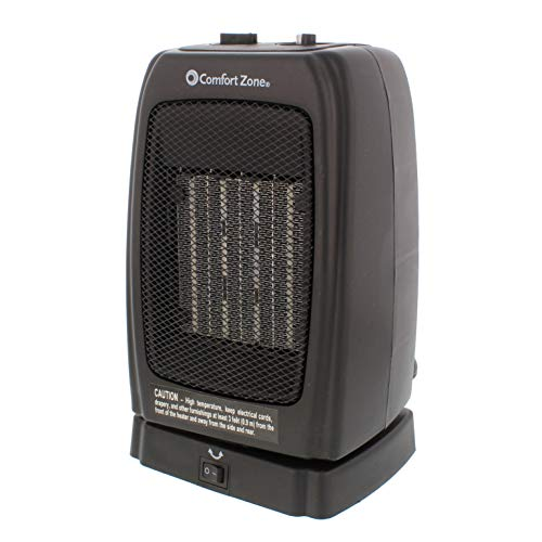 Comfort Zone CZ448 Oscillating Portable Ceramic Space Heater with 2 Heat Settings and Fan-Only Function Heater Oscillating Space