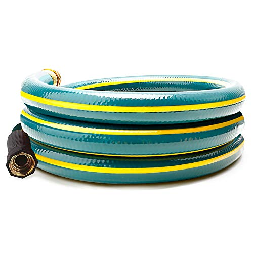 Solution4Patio 3/4 in. x 6 ft. Short Garden Hose, No Leaking, Green Lead-Hose Male/Female Solid Brass Fitting for Reel Cart, Water Softener, Dehumidifier, Camp RV Filter, Janitor Sink Hose #H165B21