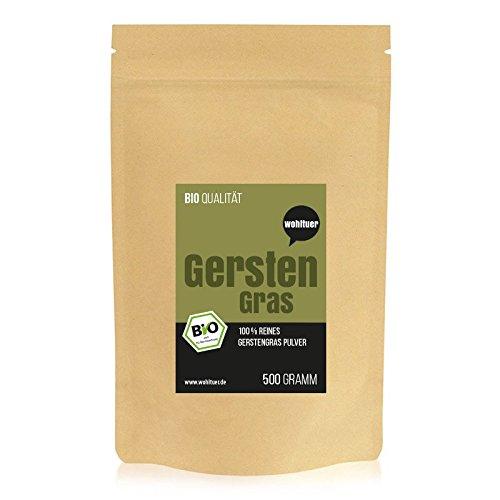 Wohltuer Premium Gerstengraspulver / Gemahlenes Gerstengras 500g in Rohkostqualität aus Bayern