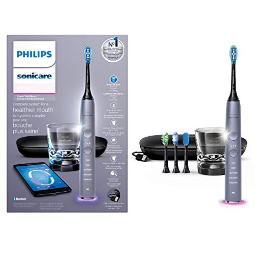 Philips Sonicare DiamondClean Smart Electric Rechargeable toothbrush for Complete Oral Care, with Charging Travel Case, 5 modes – 9500 Series,...