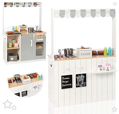 SUN Küchen- & Kaufladen-Kombi Street Food Kitchen (Weiß-Grau)