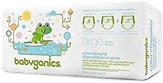 Babyganics Color Changing Disposable Swim Diapers,  Large