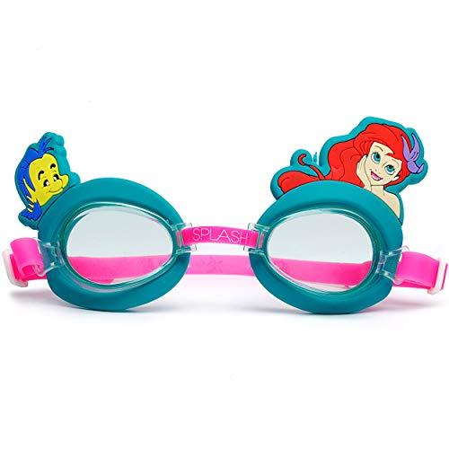 alles-meine.de GmbH 3-D _ Schwimmbrille / Taucherbrille / Chlorbrille -  Disney Princess - Arielle  - Kinder von 2 bis 12 Jahre - verstellbar / wasserdicht & Anti Beschlag - Mä..