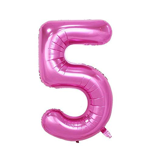 Find Bargain Cutdek 40 Giant Pink Five Year Old Baby First Birthday 5 Month Number Float Balloon US