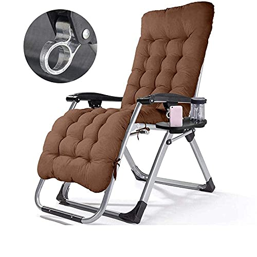FHISD Sillas de playa, reclinable de jardín de color puro, reclinable portátil de gravedad cero, tumbona plegable y silla de camping