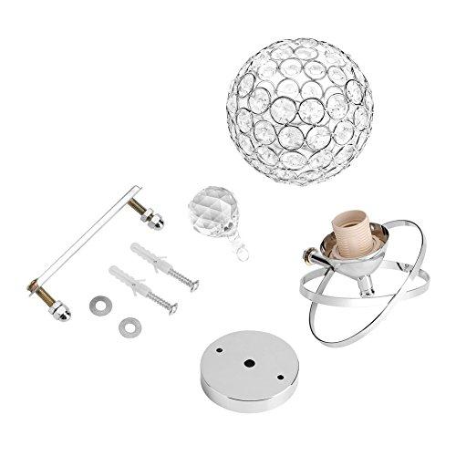 Apliques de pared de cristal, accesorios de iluminación de pared con gotas de cristal, lámpara de pared de cristal moderna, cromo o sala de estar/dormitorio/pasillo/armario