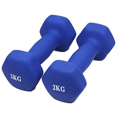 Kurzhantel Set Neopren Hanteln Kurzhanteln Für Aerobic Gymnastik Und Fitness 2er Set Diverse Sets 1kg Bis 10kg,Blue,2kg