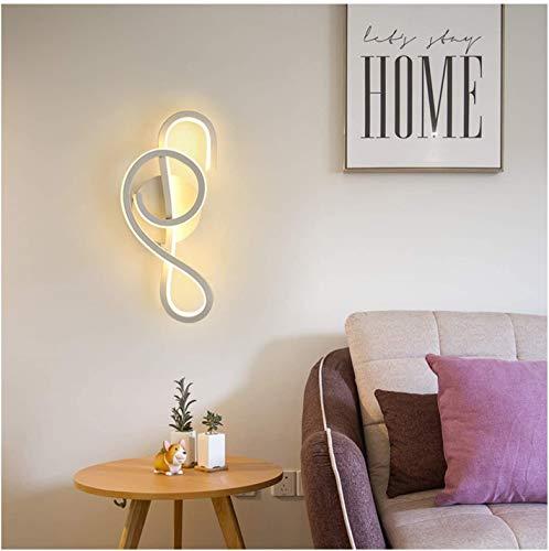Wlnnes Moderno interior brillante LED pared de la pared 22W, 6000k dormitorio de la sala de estar de la sala de estar Lámparas de la luz de la pared de la iluminación Ajuste para las escaleras del pas