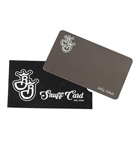 Edle Edelstahl-Snuffcard im Kreditkartenformat