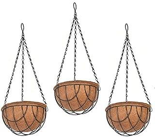 COIR GARDEN Coco Flower POTS Hanging Basket for Gardening (8 Inch) -3 Pieces