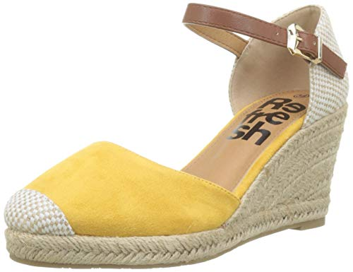Sandalias amarillas de verano con Punta Cerrada para Mujer