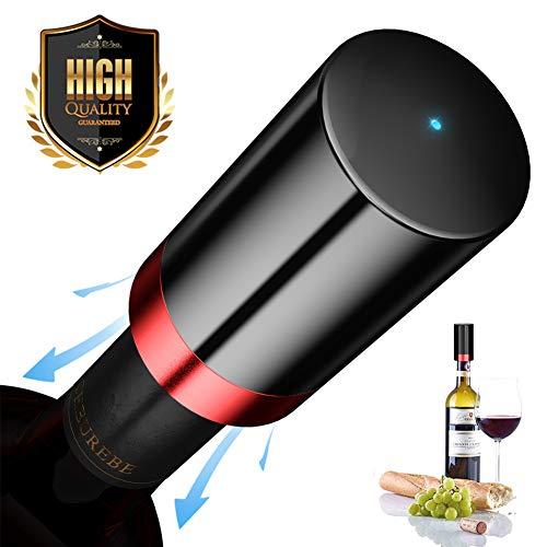 Quntis Weinflaschenverschluss Weinstopper Weinverschlüsse zum Aufbewahren und Frischhalten elektrischer Vakuum-Weinverschluss wiederaufladbar Geschenk für Weinliebhaber