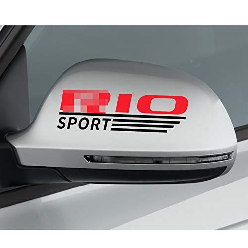 MYlnb 2 uds, Pegatinas de Vinilo para decoración de automóviles, calcomanía gráfica para Espejo retrovisor, para Kia Rio 3 4 K2 K3 X-Line, Accesorios Reflectantes para molduras de Espejo