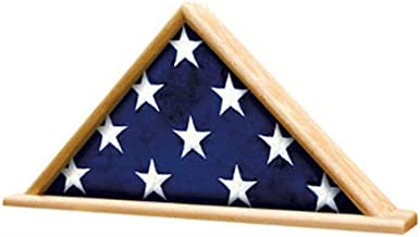 product image for Ceremonial Flag Display Triangle case is Available in Your Choice of Solid Oak or Walnut.
